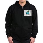 2007 Senior Party Penguin Zip Hoodie (dark)