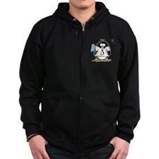 linux vs windows Penguin Zip Hoodie