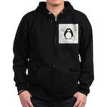 Angel Penguin Zip Hoodie (dark)