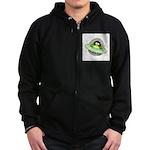 Space Penguin Zip Hoodie (dark)