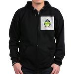 Geek penguin Zip Hoodie (dark)