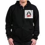 Swim Trunk Penguin Zip Hoodie (dark)