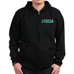 Penguin Happiness Zip Hoodie (dark)