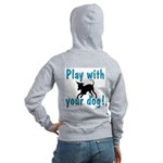 Play With Your Dog Women's Zip Hoodie