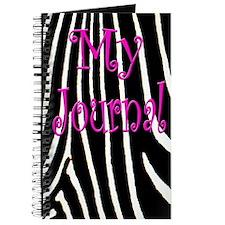 My Journal w/Zebra Print