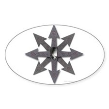 Chaos Sign Skull & Arrows Oval Decal