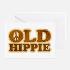 Old Hippie Peace Greeting Card