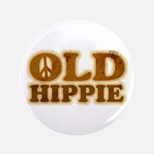 "Old Hippie Peace 3.5"" Button"
