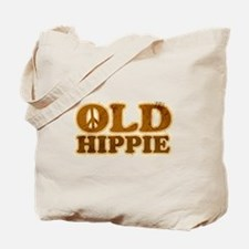 Old Hippie Peace Tote Bag
