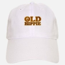 Old Hippie Peace Baseball Baseball Cap
