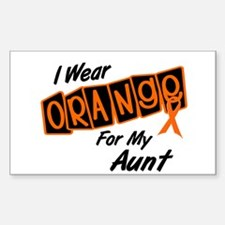 I Wear Orange For My Aunt 8 Rectangle Decal