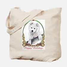 Samoyed Puppy Holiday Tote Bag