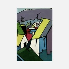 Abstract Village I Rectangle Magnet