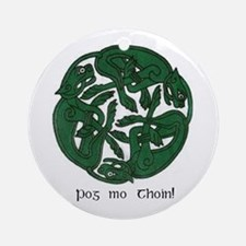 """Pog Mo Thoin Celtic Design"" Ornament (Round)"