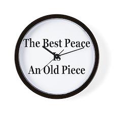 Piece is Peace Wall Clock