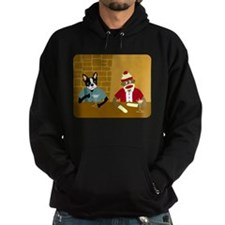 Boston Terrier & Sock Monkey Hoodie