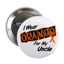 """I Wear Orange For My Uncle 8 2.25"""" Button"""