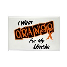 I Wear Orange For My Uncle 8 Rectangle Magnet