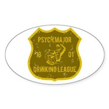 Psych Major Drinking League Oval Decal