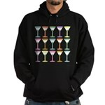 Pop Art Martinis Hoodie (dark)