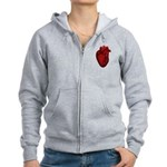 Anatomical Human Heart Women's Zip Hoodie