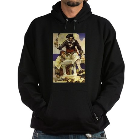 Blackbeard Pirate Hoodie (dark)
