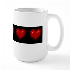 Hearts by Harlow Large Mug