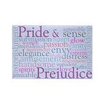 Jane Austen Pride and Prejudice Rectangle Magnet