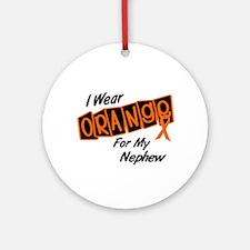 I Wear Orange For My Nephew 8 Ornament (Round)
