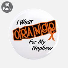 "I Wear Orange For My Nephew 8 3.5"" Button (10 pack"