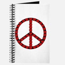 Peace Symbol Hearts Journal