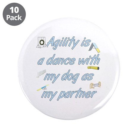 "Agility Dance 3.5"" Button (10 pack)"