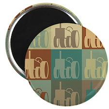 "Farming Pop Art 2.25"" Magnet (100 pack)"
