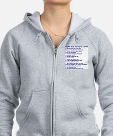 Writer Clues Zip Hoody