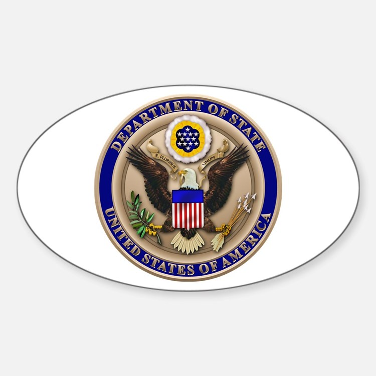 State Dept. Seal Oval Decal