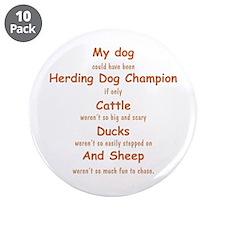 "Herding Champion CDS 3.5"" Button (10 pack)"