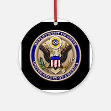 State Dept. Emblem Ornament (Round)