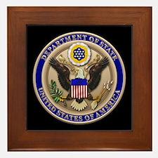 State Dept. Emblem Framed Tile