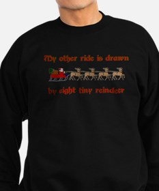 Drawn by Eight Tiny Reindeer Sweatshirt