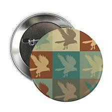 "Falconry Pop Art 2.25"" Button (10 pack)"