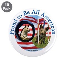 "Chewie and Lucky Flag 3.5"" Button (10 pack)"