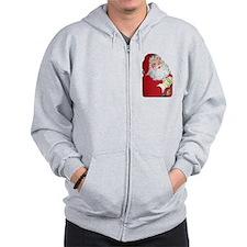 Santa Claus Zip Hoodie
