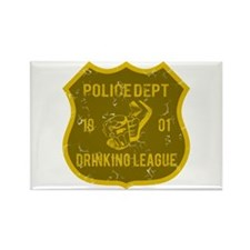 Police Dept Drinking League Rectangle Magnet