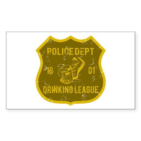 Police Dept Drinking League Rectangle Sticker