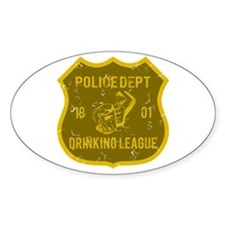Police Dept Drinking League Oval Decal