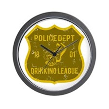Police Dept Drinking League Wall Clock