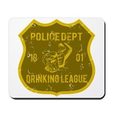 Police Dept Drinking League Mousepad