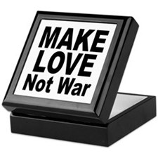 Make Love Not War Keepsake Box