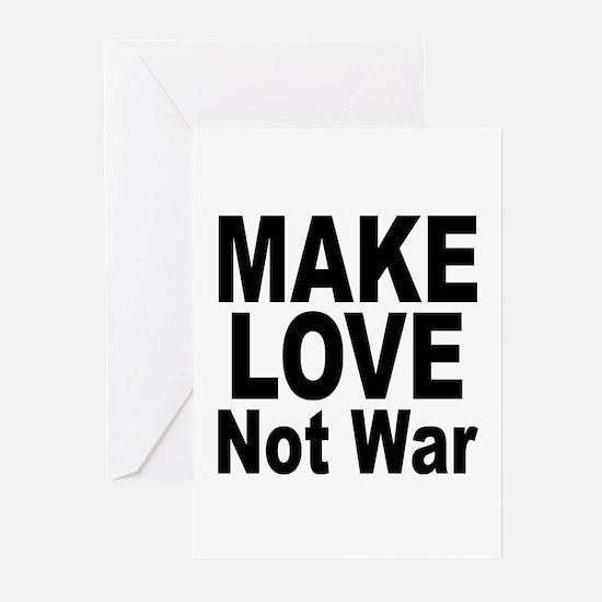 Make Love Not War Greeting Cards (Pk of 10)