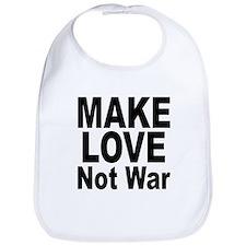 Make Love Not War Bib